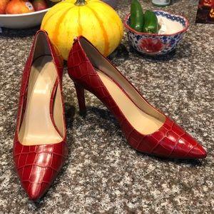 MICHAEL KORS Red Croc Heels 👠